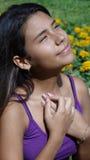 Muchacha adolescente en amor Fotografía de archivo libre de regalías
