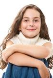 Muchacha adolescente en blanco Imágenes de archivo libres de regalías