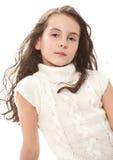Muchacha adolescente en blanco Imagen de archivo