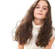 Muchacha adolescente en blanco Imagen de archivo libre de regalías