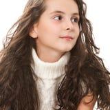 Muchacha adolescente en blanco Foto de archivo libre de regalías