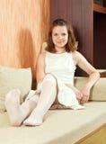 Muchacha adolescente en blanco Foto de archivo