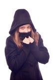 Muchacha adolescente en capilla Fotografía de archivo libre de regalías