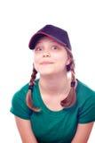 Muchacha adolescente en casquillo Foto de archivo libre de regalías