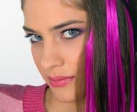 Muchacha adolescente en color de rosa Fotografía de archivo libre de regalías