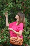Muchacha adolescente en el jardín Imagen de archivo
