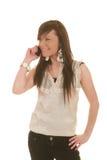 Muchacha adolescente en el teléfono celular Imagen de archivo