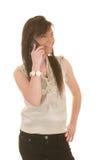 Muchacha adolescente en el teléfono celular Imagenes de archivo