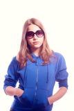 Muchacha adolescente en gafas de sol Imagenes de archivo