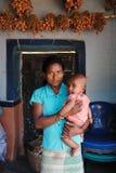 Muchacha adolescente en la India rural Fotografía de archivo libre de regalías