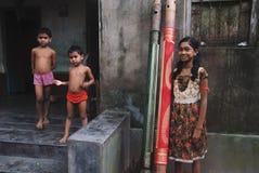 Muchacha adolescente en la India rural Foto de archivo libre de regalías