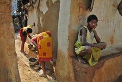 Muchacha adolescente en la India rural Imagen de archivo