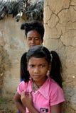 Muchacha adolescente en la India rural Fotos de archivo libres de regalías
