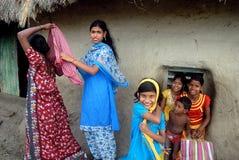 Muchacha adolescente en la India rural Imagen de archivo libre de regalías