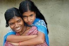 Muchacha adolescente en la India rural Foto de archivo
