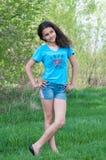Muchacha adolescente en la naturaleza Fotografía de archivo