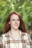 Muchacha adolescente en parque Imagen de archivo libre de regalías