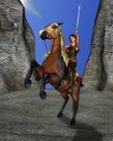 Muchacha adolescente en su caballo Foto de archivo