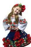 Muchacha adolescente en una alineada Foto de archivo libre de regalías