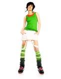 Muchacha adolescente en una alineada brillante Foto de archivo libre de regalías