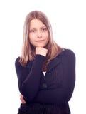 Muchacha adolescente en uniforme Imágenes de archivo libres de regalías
