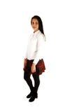 Muchacha adolescente en uniforme escolar. Fotos de archivo libres de regalías
