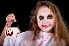 Muchacha adolescente en zombi del traje Foto de archivo