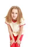 Muchacha adolescente encantadora con el pelo que fluye Fotos de archivo