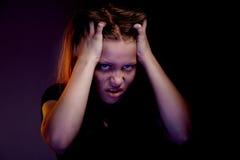 Muchacha adolescente enojada Imagenes de archivo