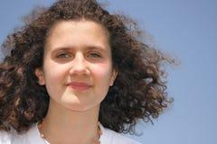 Muchacha adolescente feliz Foto de archivo