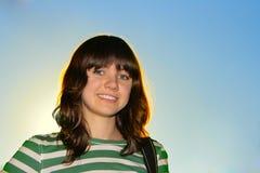 Muchacha adolescente feliz Imagen de archivo