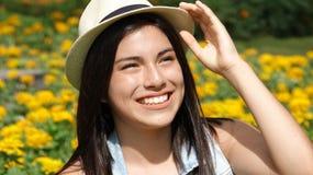 Muchacha adolescente feliz Fotografía de archivo