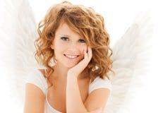 Muchacha adolescente feliz del ángel Foto de archivo libre de regalías