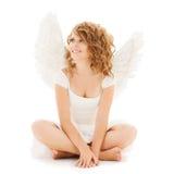 Muchacha adolescente feliz del ángel Imagen de archivo libre de regalías