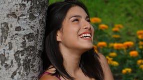 Muchacha adolescente feliz emocionada Fotografía de archivo libre de regalías