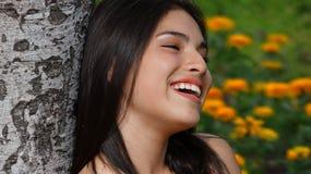 Muchacha adolescente feliz en amor Foto de archivo