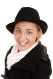 Muchacha adolescente feliz en la ropa del invierno Imagen de archivo libre de regalías