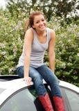Muchacha adolescente feliz fresca Foto de archivo libre de regalías