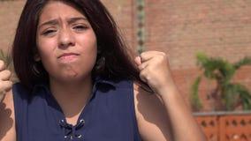 Muchacha adolescente frustrada Foto de archivo libre de regalías