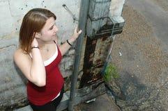 Muchacha adolescente Grunge Foto de archivo