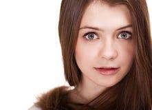 Muchacha adolescente hermosa con los pelos largos Foto de archivo