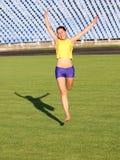 Muchacha adolescente hermosa del deporte Fotografía de archivo