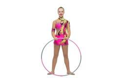 Muchacha adolescente hermosa del gimnasta Imagenes de archivo