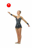 Muchacha adolescente hermosa del gimnasta Imagen de archivo
