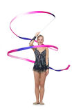 Muchacha adolescente hermosa del gimnasta Imágenes de archivo libres de regalías
