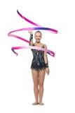 Muchacha adolescente hermosa del gimnasta Foto de archivo libre de regalías