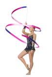 Muchacha adolescente hermosa del gimnasta Fotos de archivo libres de regalías