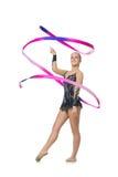 Muchacha adolescente hermosa del gimnasta Imagen de archivo libre de regalías