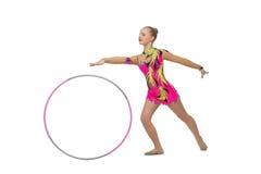 Muchacha adolescente hermosa del gimnasta Fotografía de archivo libre de regalías