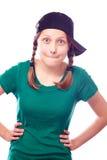 Muchacha adolescente hermosa en casquillo Fotos de archivo libres de regalías